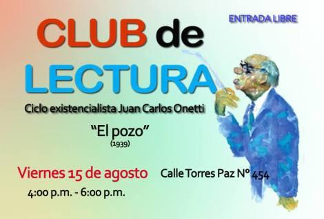 "CLUB DE LECTURA ""CICLO EXISTECIALISTA JUAN CARLOS ONETTI"""