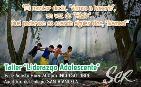 TALLER DE LIDERAZGO PARA ADOLESCENTES