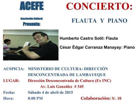 CONCIERTO DE FLAUTA Y PIANO